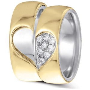 Hearts And Wings Wedding Rings