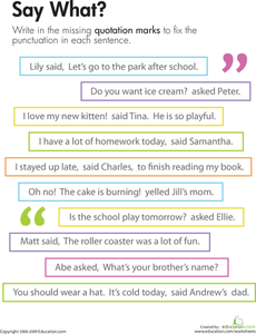 Quotation Marks: Say What? | Common Core, Unit 11Comparing and ...