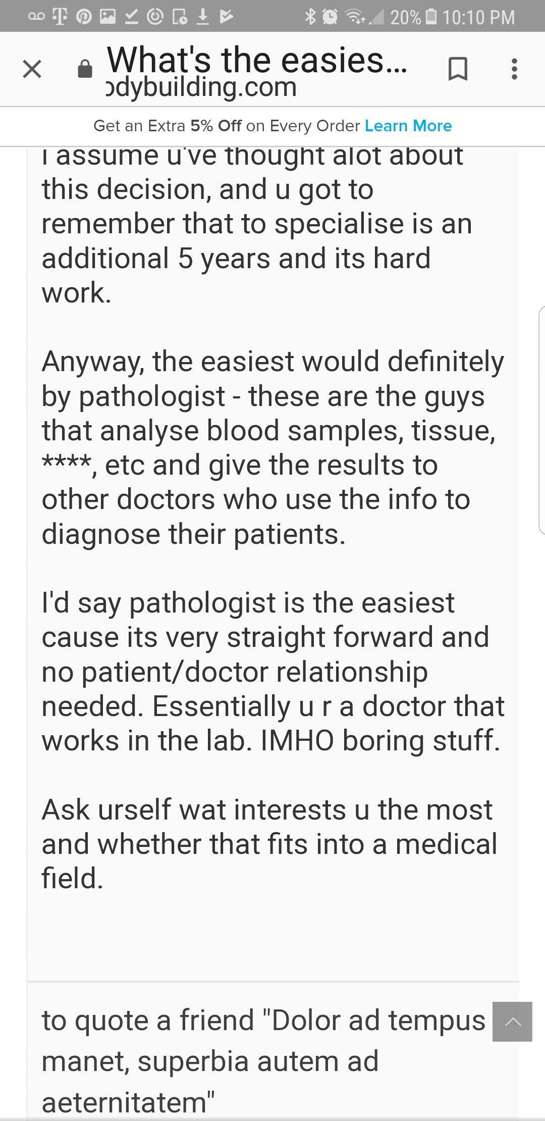 easiest medical field
