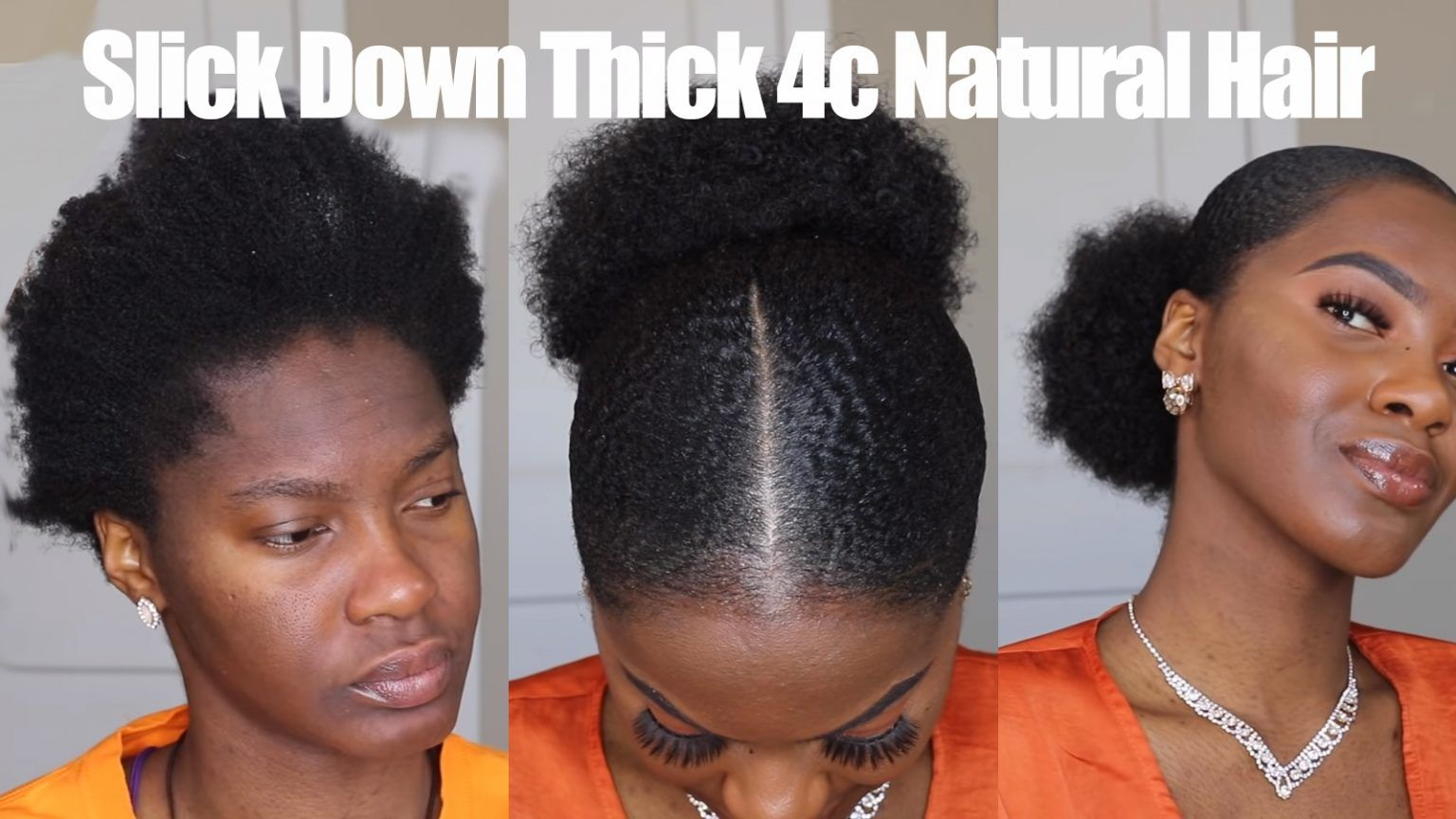 How Adanna Slicks Down Her Sister S Thick 4c Natural Hair The Style Looks Amazing African American Hairstyle Videos Aahv In 2020 Natural Hair Styles 4c Natural Hair Hair Videos