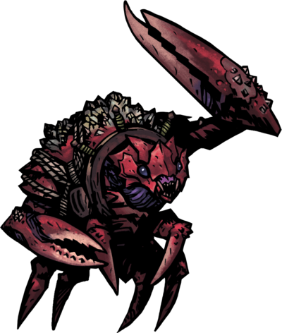 Uca Crusher The Uca Crusher Is An Eldritch Type And The Large Enemy Of The Cove Darkest Dungeon Dark Fantasy Fantasy Creatures