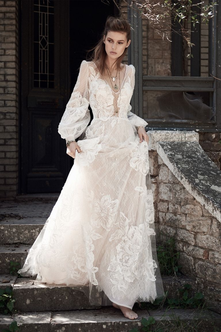 115 Best Bohemian Wedding Dresses Boho Dress Ideas For Hippie Brides