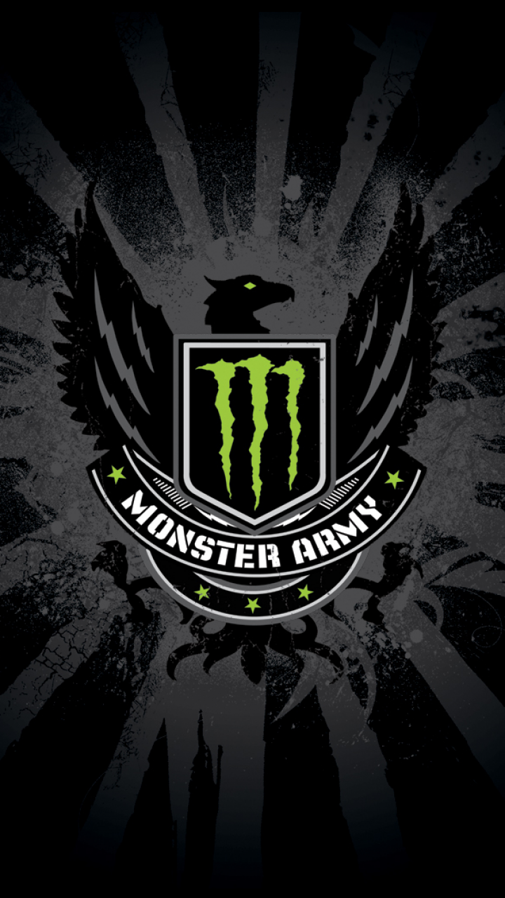 Lumia 535 Products Monster Wallpaper Id 571100 Monster Energy Army Wallpaper Monster Energy Drink Logo