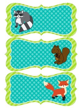 Use These Forest Animal Name Tags To Label Desks Cubbies Backpacks Journals Folders And Much Much More Included Are 24 D Forest Animals Name Tags Animals
