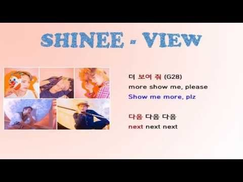 Shinee- View lyrics Video for Korean Learners | Languages