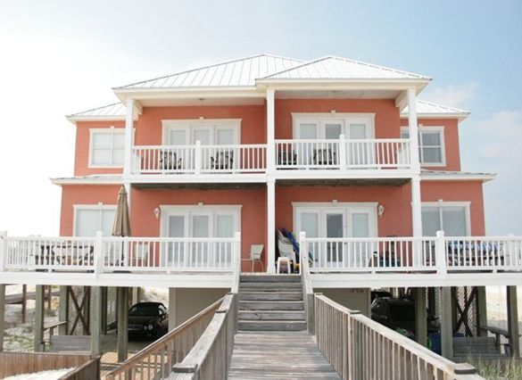 Coastal Home Plans Gulf Shores Duplex Coastal House Plans Beach House Plans Modern Beach House