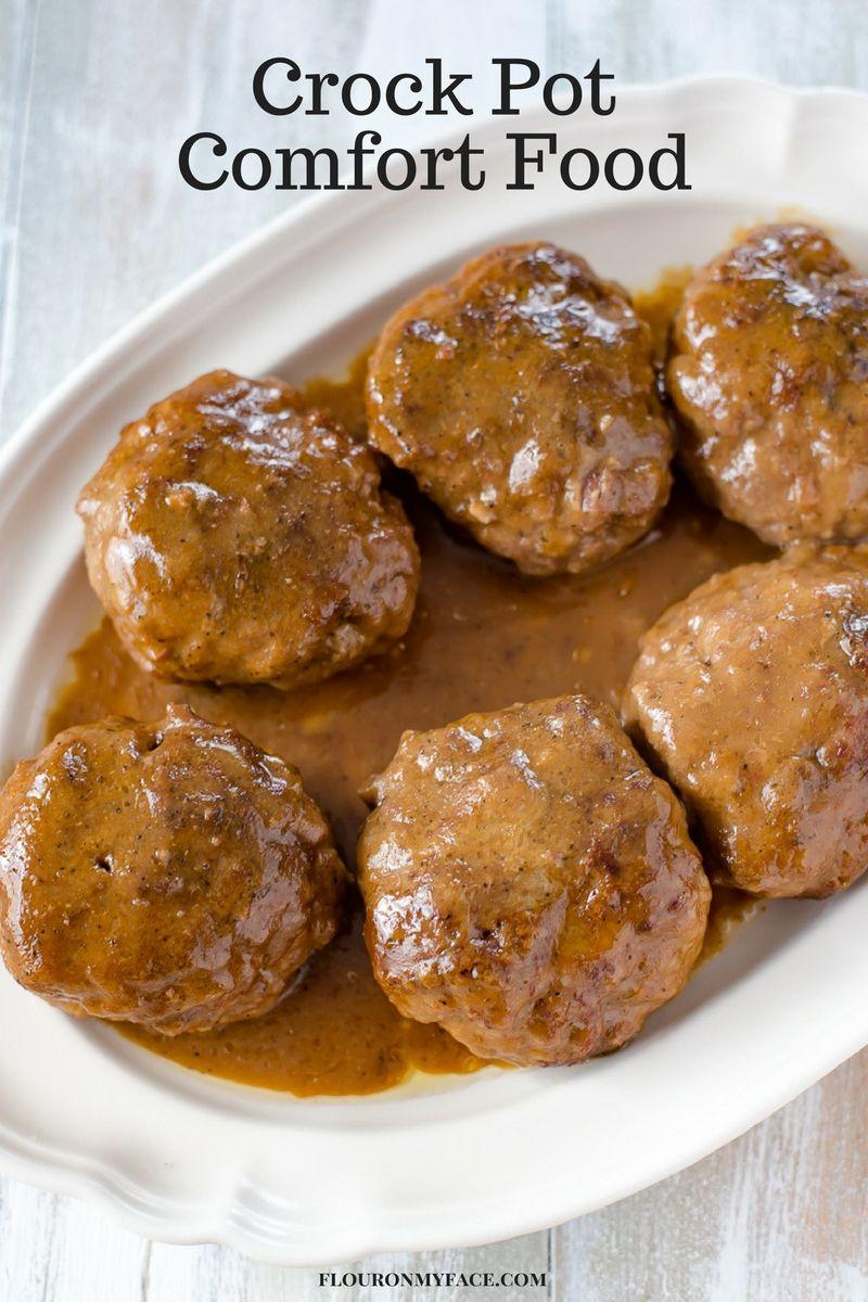 Crock Pot Salisbury Steak   Recipe   cooking   Salisbury ...
