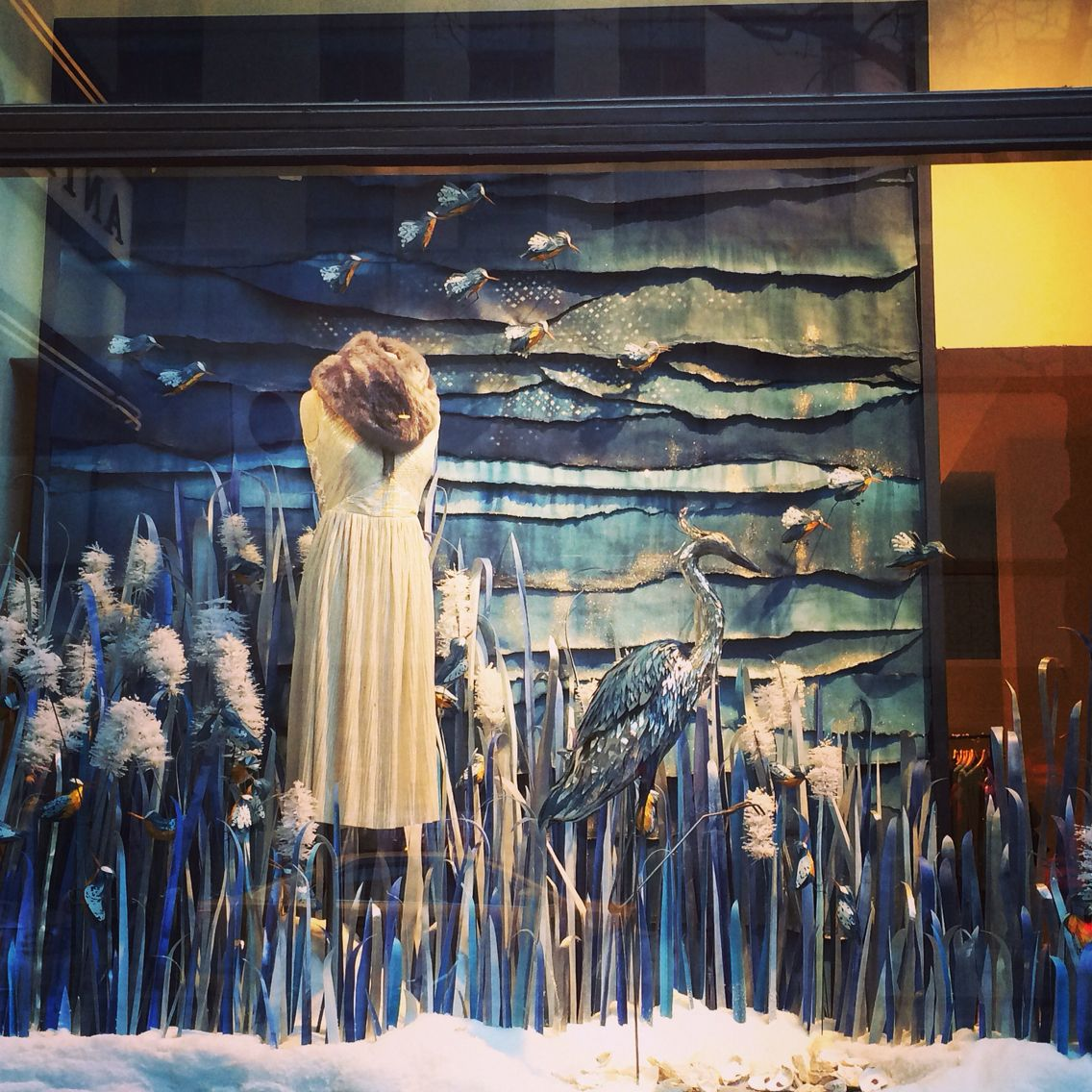 Anthropologie holiday windows 2014 NYC Anthropologie
