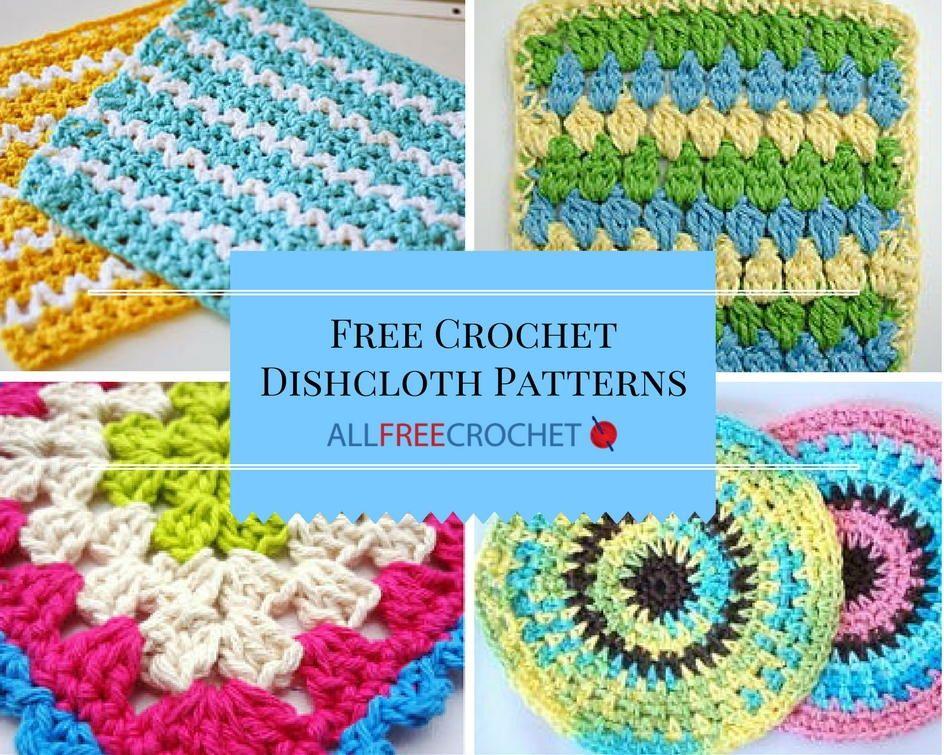 51 Free Crochet Dishcloth Patterns | Araña y Inspiración