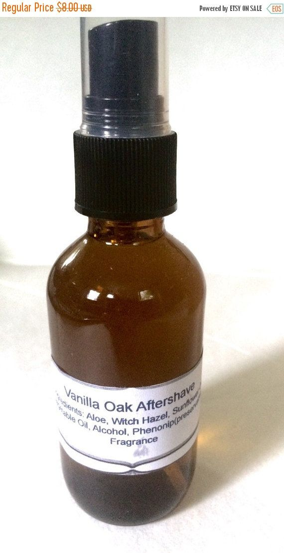 Vanilla Oak Aftershave, Men's Aftershave, Aloe Aftershave, Vegan Aftershave, Handmade Aftershave