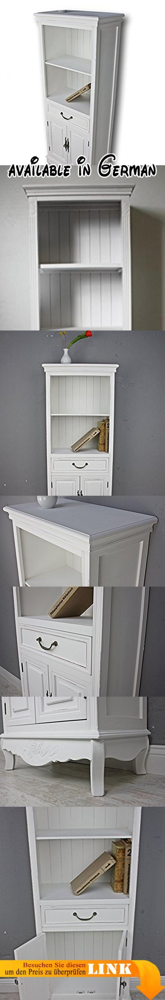 B005OK2YIM : elbmöbel Küchenregal in weiß aus Holz mit Türen im ...