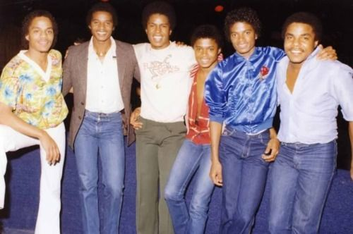 The Jackson Brothers from (L-R) Marlon, Jackie, Jermaine, Randy, Michael, and Tito Jackson.