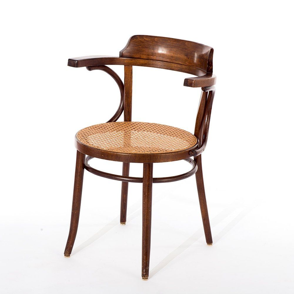 For Sale Vintage Thonet Model 233 Cafe Chair With Rattan Webbing Romania 1960s In 2020 Cafe Chairs Chair Rattan