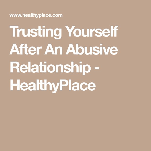 Trusting yourself in a relationship