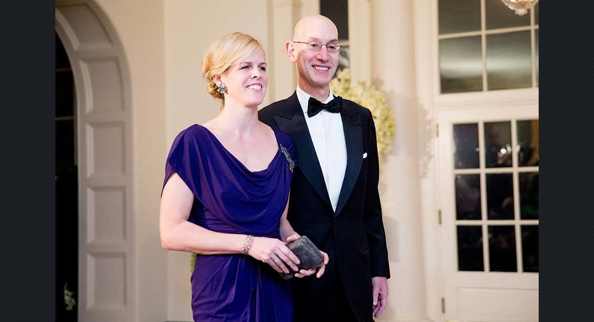 Adam Silver with enchanting, Wife Maggie Silver