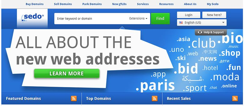 Buy and sell domains and websites with Sedo com O… | Online