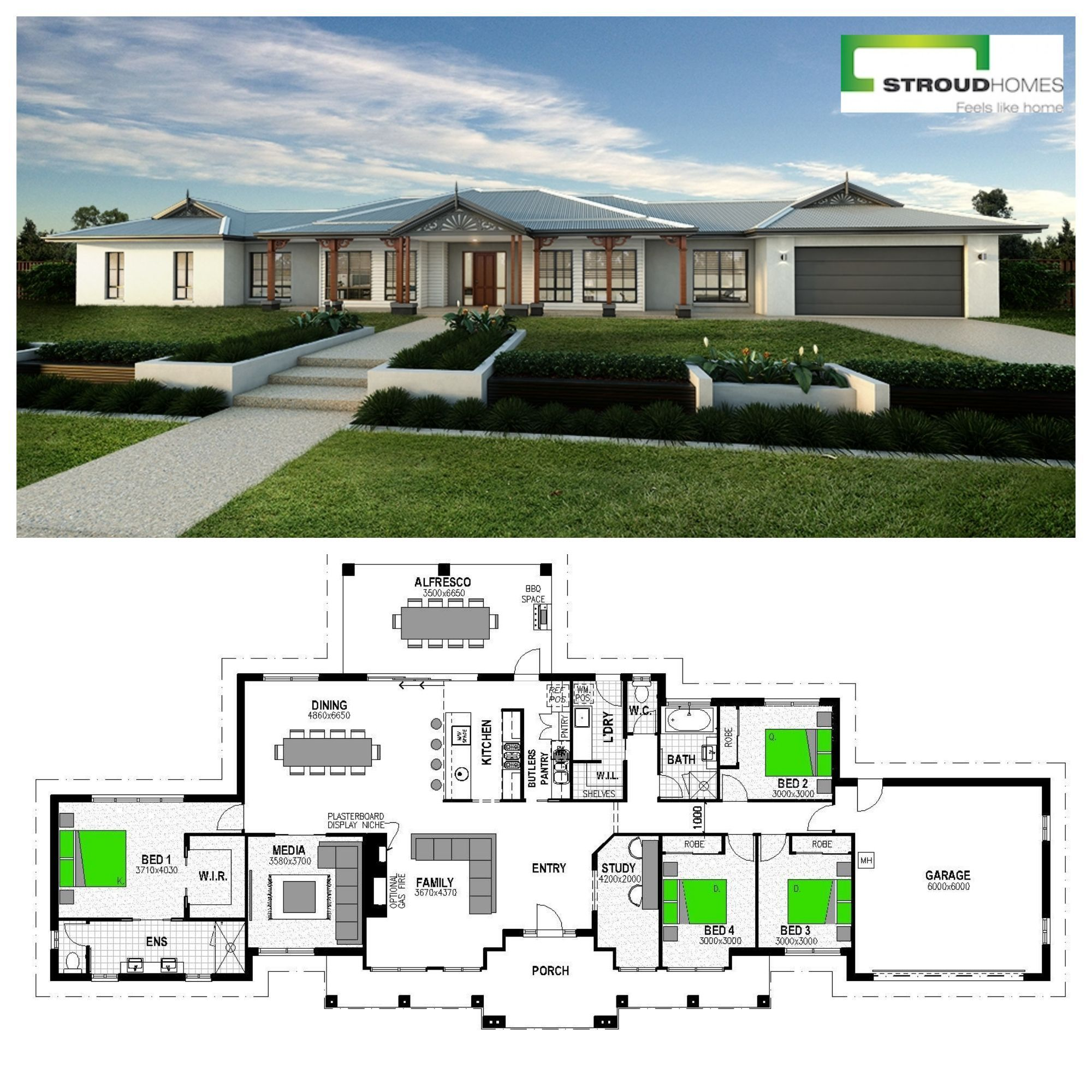 House And Land Packages Stroud Homes Beautiful House Plans Single Storey House Plans Family House Plans
