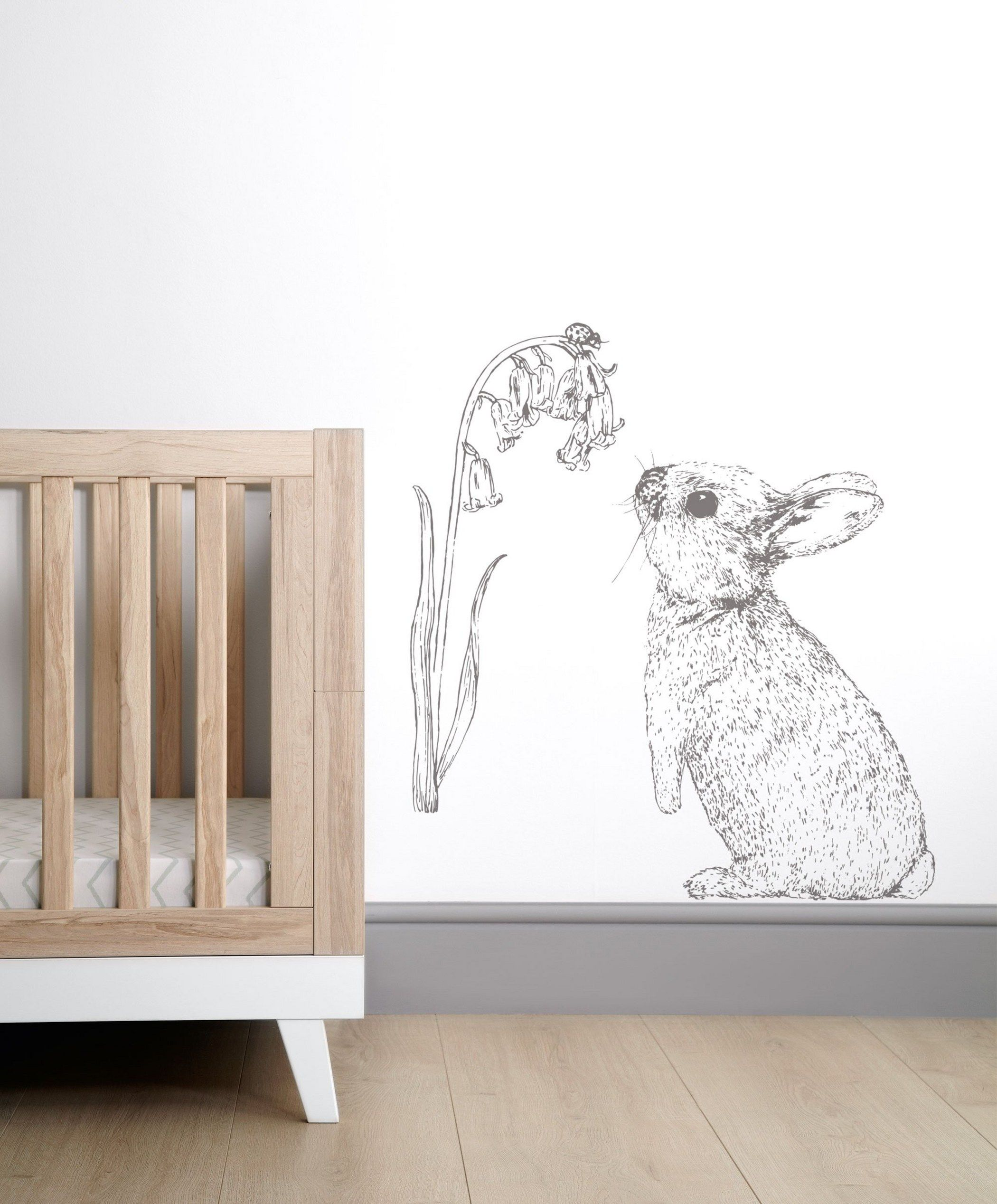 Rabbit Wall Sticker Stena Vymalba Nursery Stickers