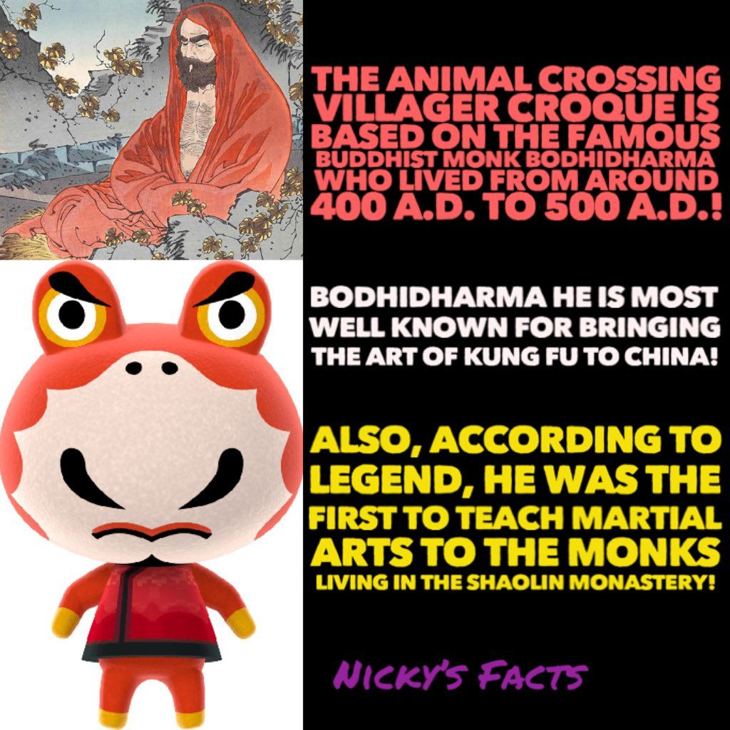 Croque The Master And Inventor Of Kung Fu History Animalcrossing China Martialarts Newl Animal Crossing Animal Crossing Villagers Chinese History