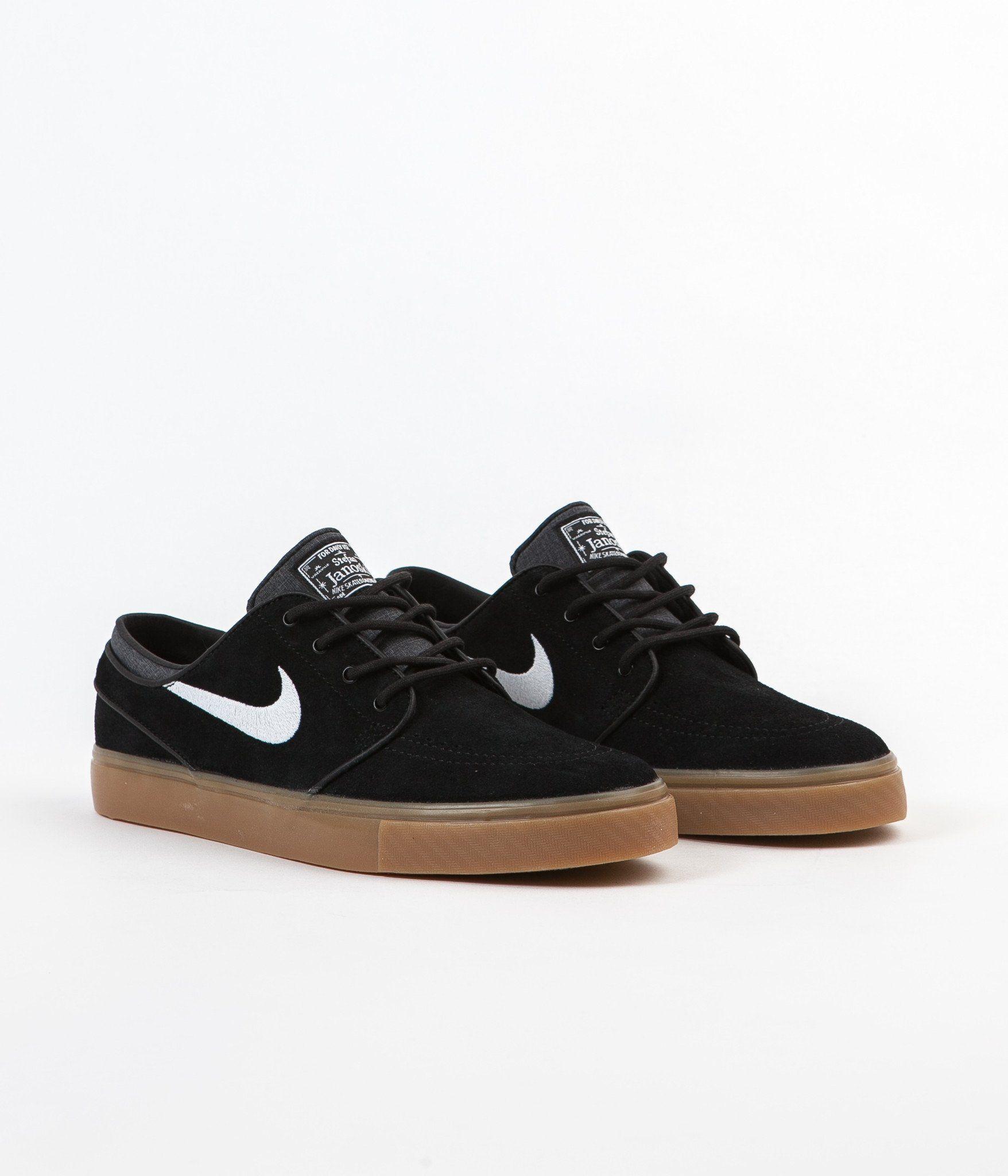 Nike Sb Stefan Janoski Shoes Black White Gum Light Brown Nike Preto Tenis