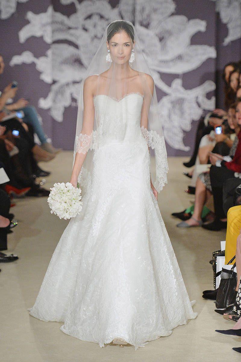 Spring 2015 Wedding Dresses - 15 Designer Wedding Dresses for Spring - Elle #EZONEFASHION