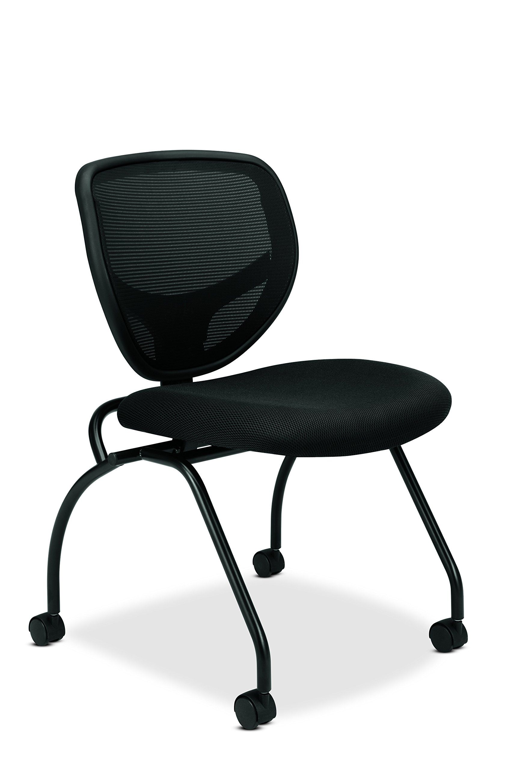 basyx by hon guest chair mesh stacking chairs and folding chairs