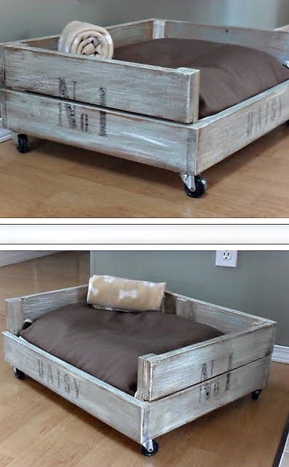 Daisy S Crate Bed Crate Bed Diy Dog Bed Dog Bed