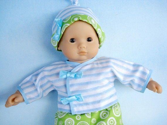 PDF e-Pattern - Baby Doll Wrap Dress - Shirt, Pants and Knot Hat ...