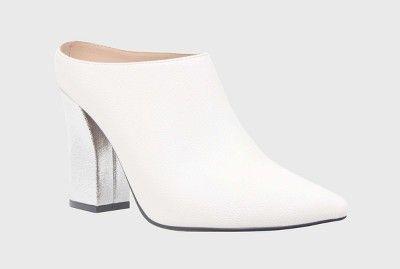 e419149127b Women s Trisha Pointed Toe Silver Heel Mules - Who What Wear™   Target