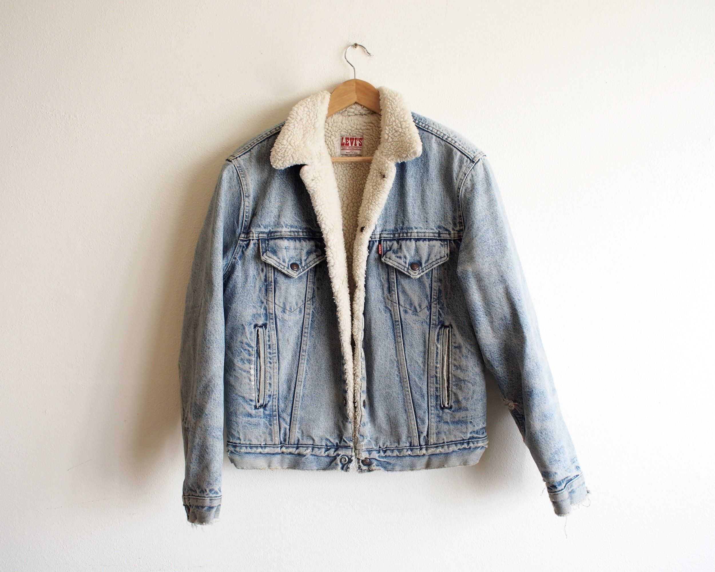 vintage sherpa lined levi s  c831043d87b16