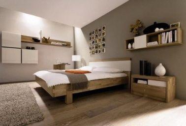 Chambre taupe et couleur lin, idées déco ambiance zen | Appart ...