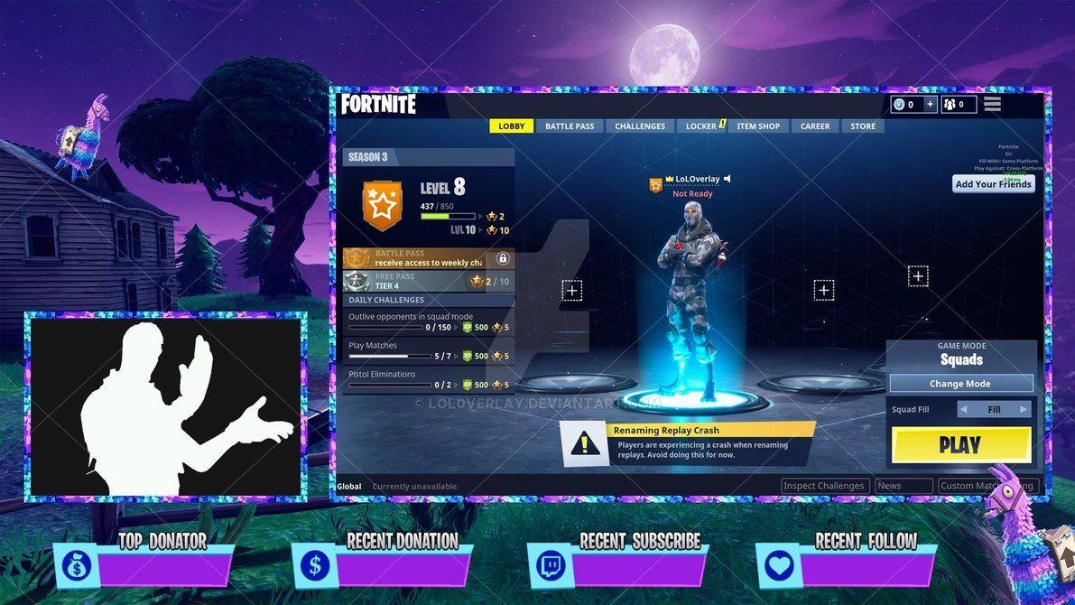 Fortnite Llama Client Overlay By Lol0verlay Overlays Fortnite Internet Games