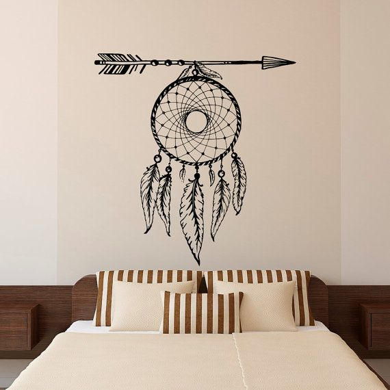 Dream Catcher Wall Decal Arrows Feathers by FabWallDecals on Etsy  Boho Decor ...
