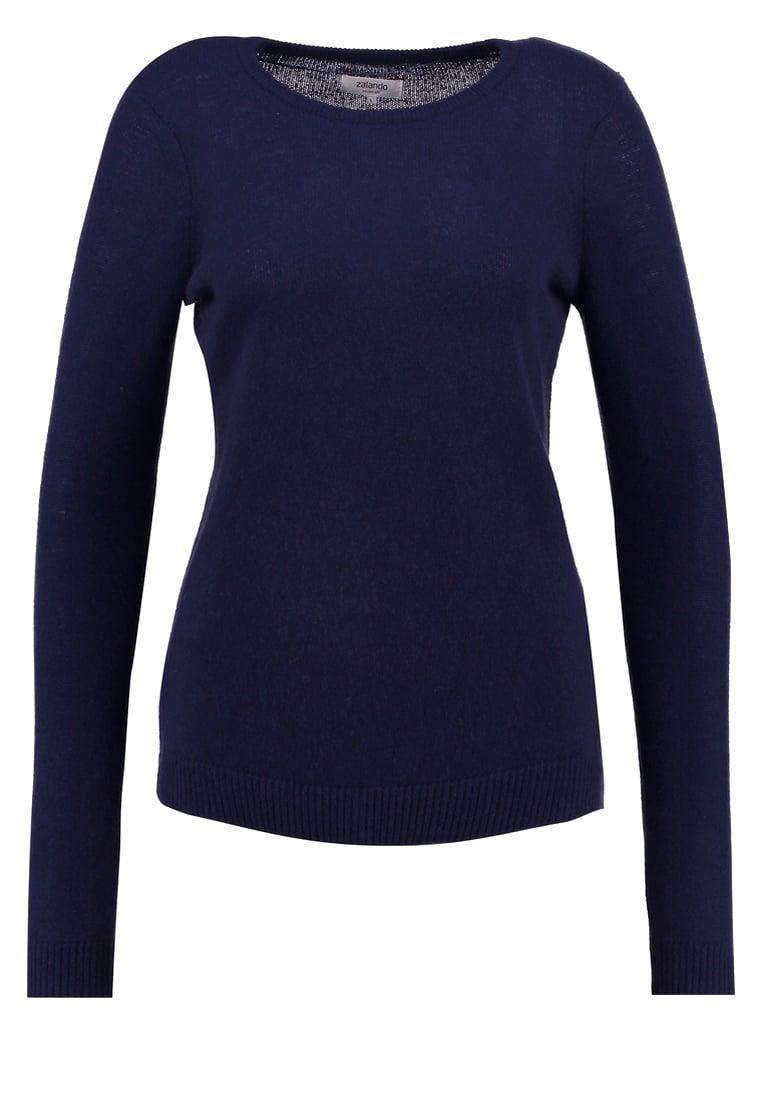 Zalando Essentials Sweter Dark Blue Ceny I Opinie Ceneo Pl Long Sleeve Tshirt Men Mens Tops Mens Long Sleeve