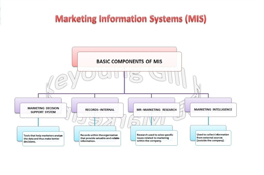 The four basic components of a marketing information system (MIS - business agenda small medium enterprises