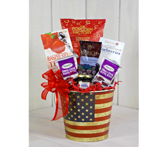 3e7567c8fad American Spirit Gourmet!  Americana  shoplocal  red  white  blue  sripes   treats  tasty  yum  gourmet  giftbasket  gift