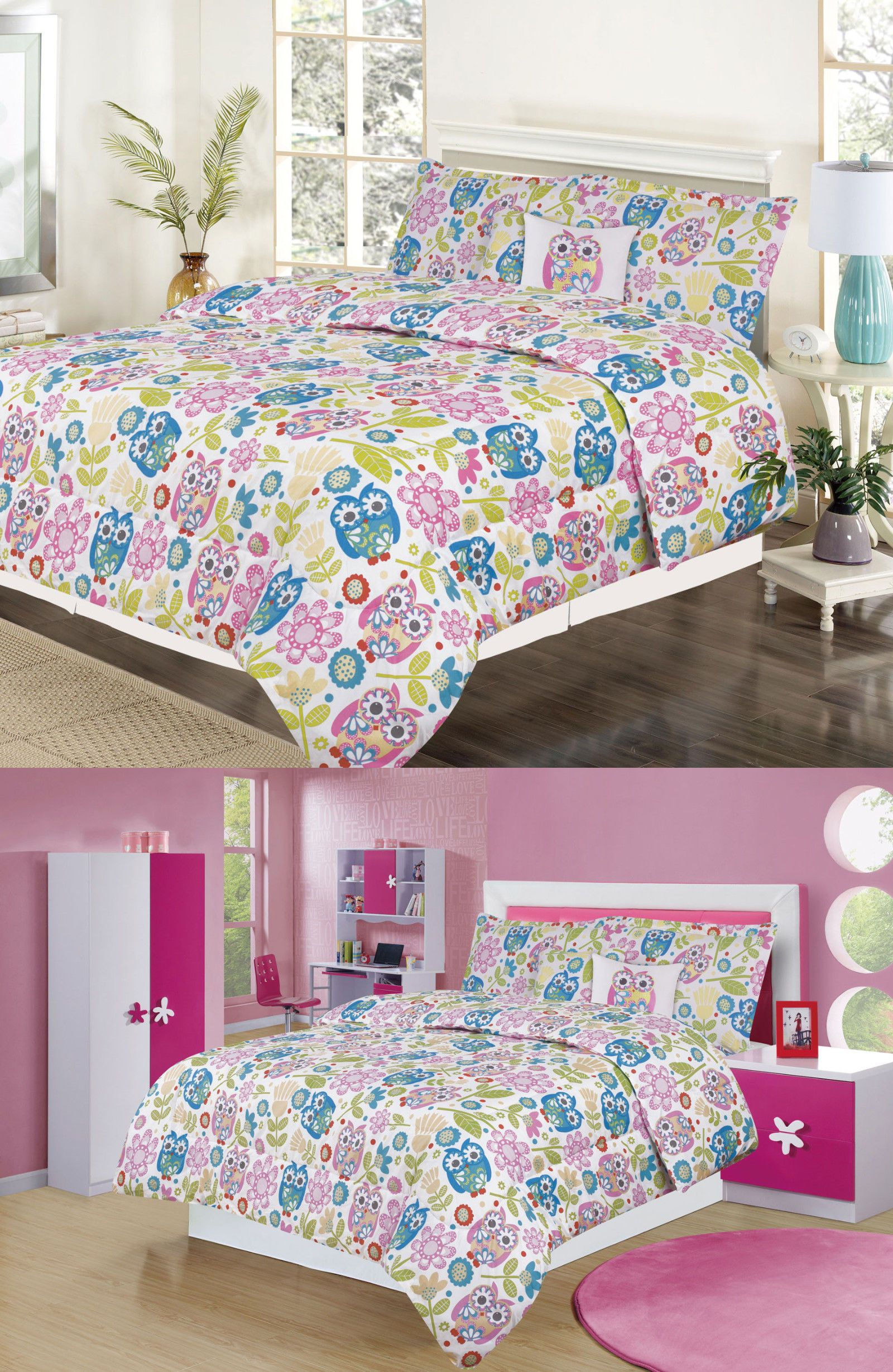 Comforters And Sets 66728 Girls Bedding Twin Or Full Comforter Bed