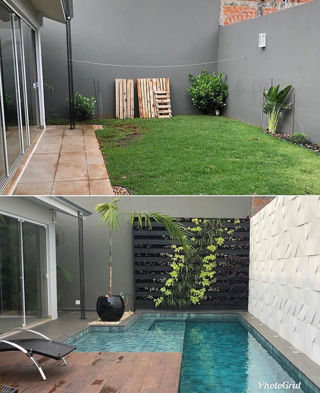 Backyard Transformation Before After: Wow 😍 Via @houses Amazing Before & After Transformation By