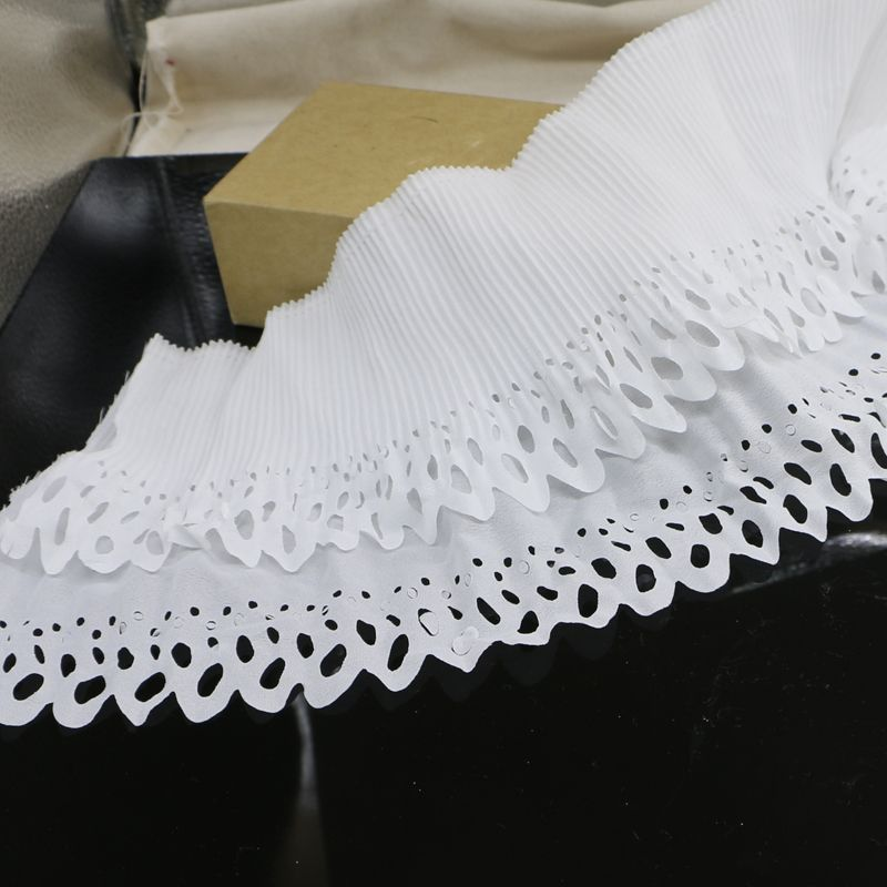 2 yards of /16cm high quality lace accessories lace fabric thick white elastic lace lace DIY beautiful garment plait skirt
