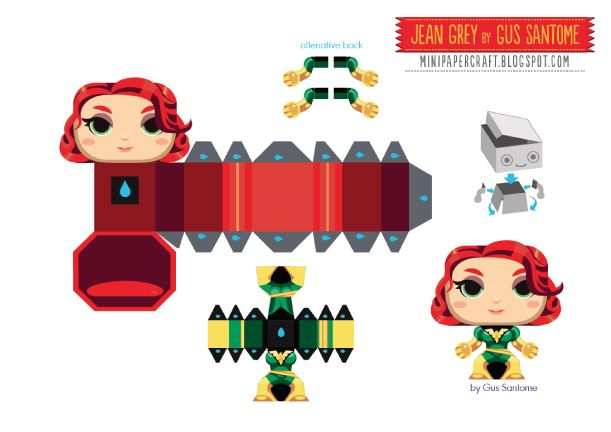 Blog_Paper_Toy_Jean_Grey_template_preview
