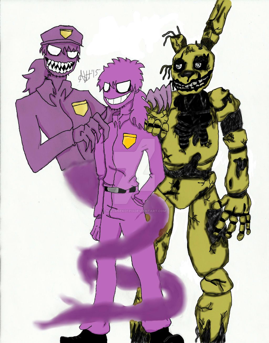 Phone guy x purple guy fanfic lemon - Springtrap Purple Guy Purple Guy Bad Spirit