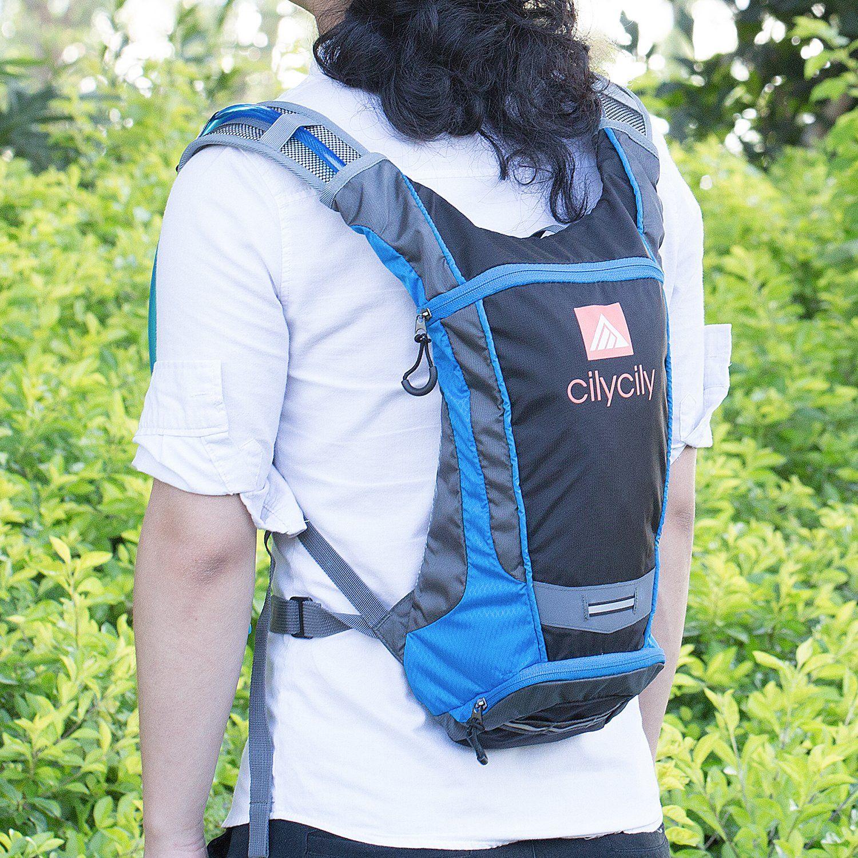 2L FOX Black Hydration Water Backpack Bag Pack Hiking Camping Cycling Bladder