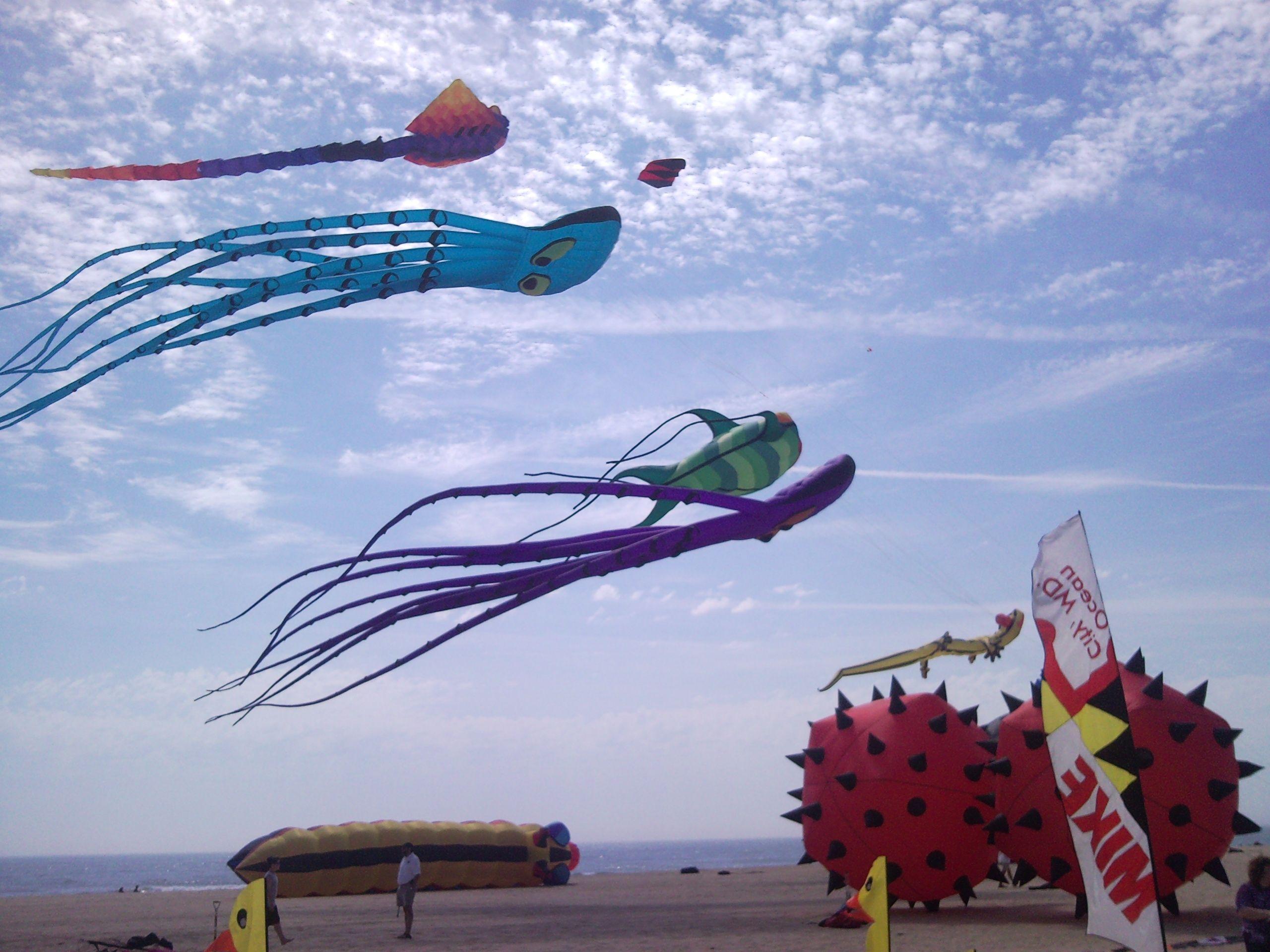 Kites on the Ocean City, MD boardwalk Ocean city