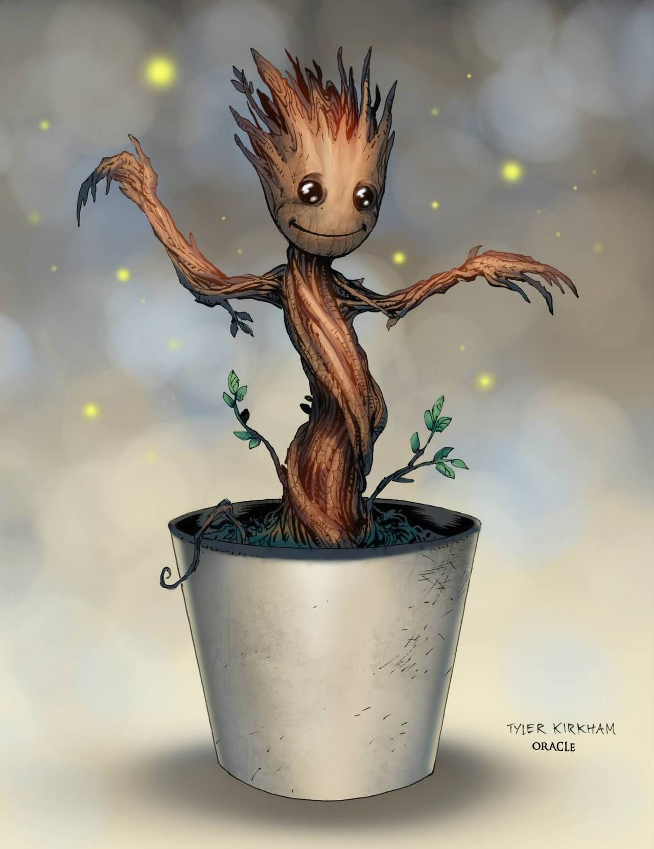 Baby Groot by Tyler Kirkham, colours by Mystic Oracle *