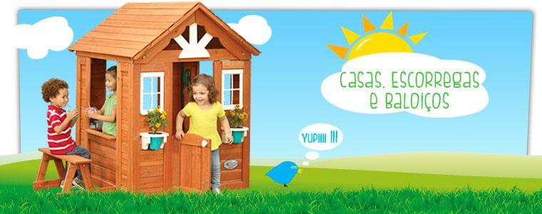 Casas escorregas e baloi os brinquedos de exterior brincar ao ar livre pinterest - Casitas de tela para ninos toysrus ...