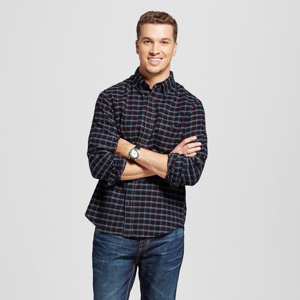 Flannel shirt black  Menus Button Down Flannel Shirt Black Xxl  Merona  Pinterest