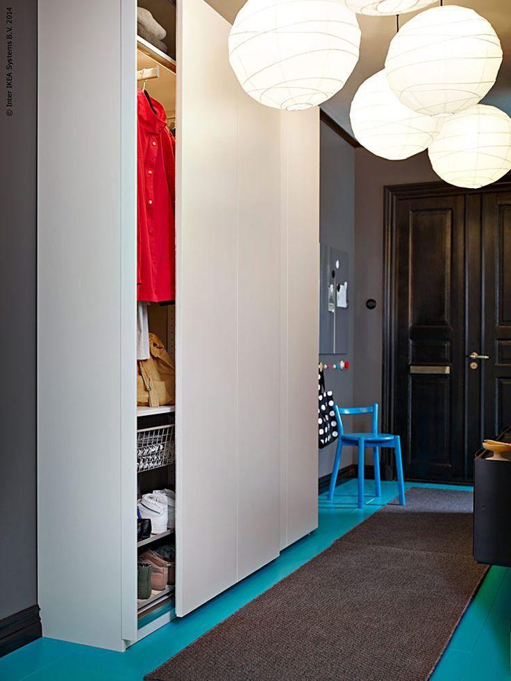 ikea pax wardrobe hallway Ikea pax kledingkast, Pax kast