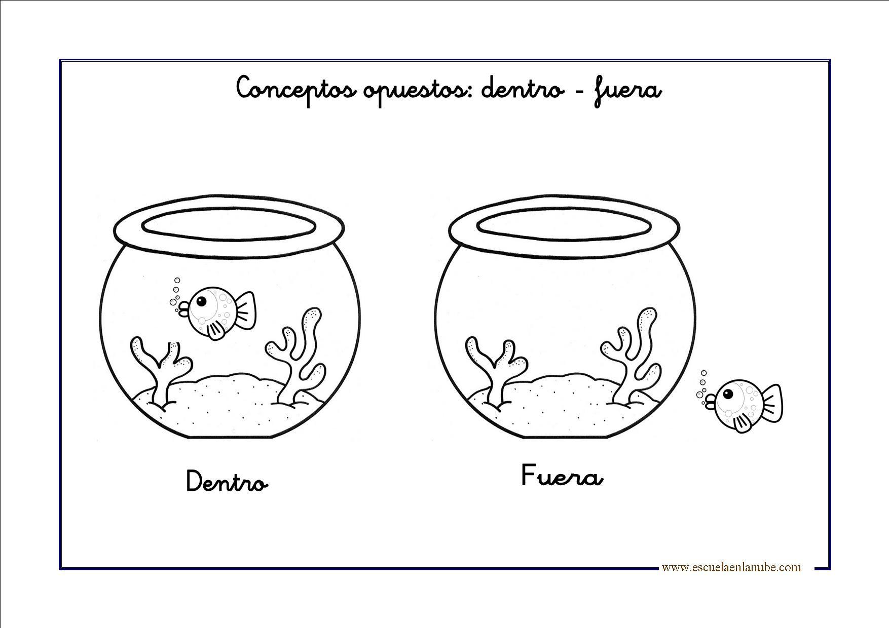 Fichas Opuestos Con Imagenes Fichas Opuestos Preescolar