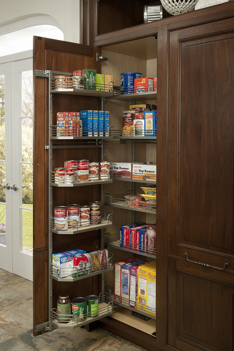 Full height tandem pantry by #WoodMode. | Kitchen cabinet ...