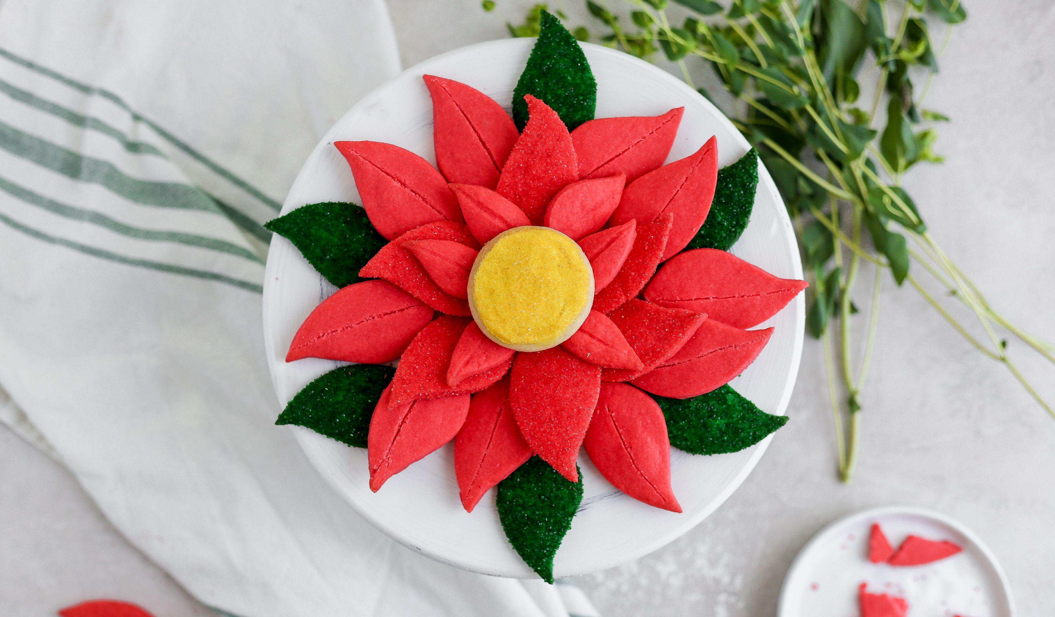 Poinsettia Pull Apart Cookies Recipe Food Com Recipe Best Christmas Desserts Cookie Display Poinsettia